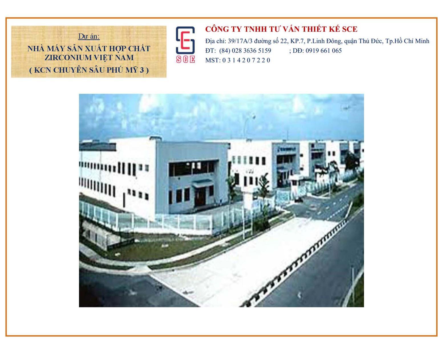 Nhà máy sản xuất hợp chất Zirconium Việt Nam