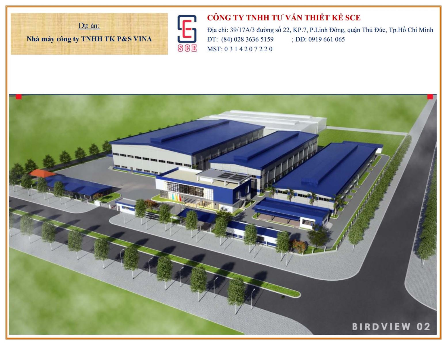 Nhà máy công ty TNHH TK P&S VINA